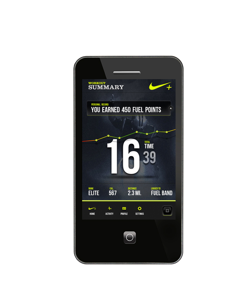 Nike Fuel App – Digital Portfolio of Jay Carver
