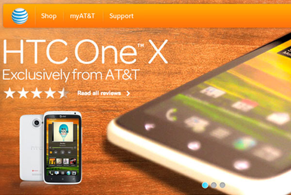 AT&T Homepage Design