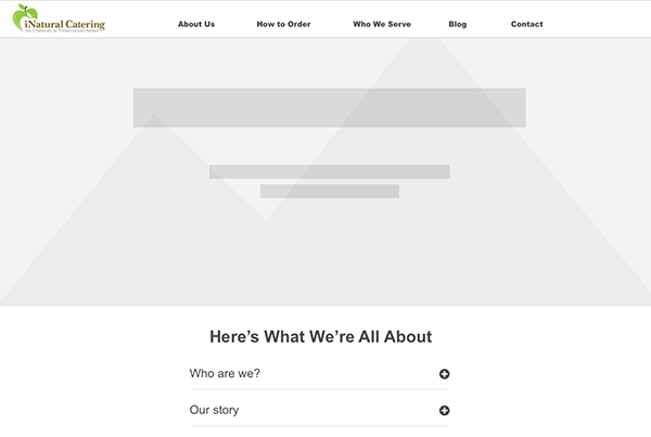 Catering Website Wireframes