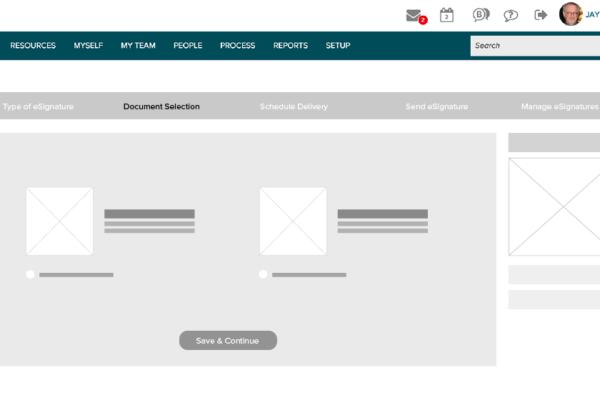 eSignature_Document Selection